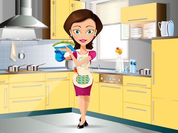 Minerva en la cocina
