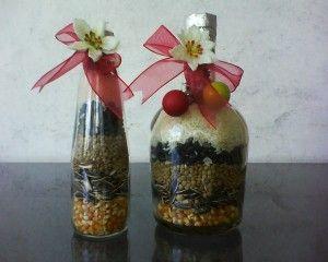 botella con semillas